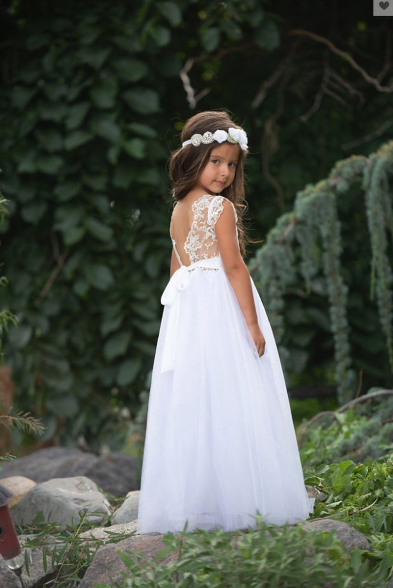 22116ae93 Bohemian flower girl dress