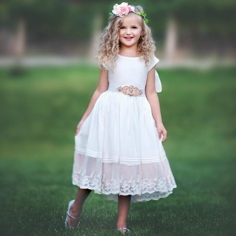 bf935ca668c Lace flower girl dress Baby Dress Flower Girl Dresses
