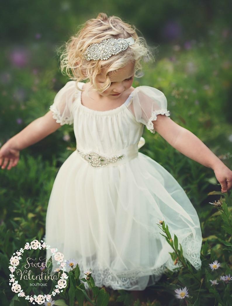 c8ccb1169 Flower Girl Dress Flower Girl DressesCountry Rustic Wedding | Etsy