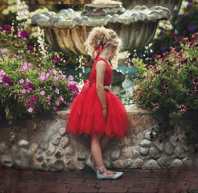 Red Flower girls dress, Flower girl dresses, Rustic Lace flower girl dress, Red Christmas dress, baby red dress, toddler dress, tulle dress