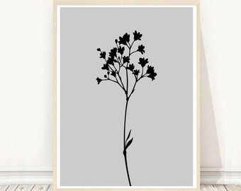 Plant Print, Minimalist Print, Botanical Art, Plant Photo, Printable Art,  Scandinavian Design, Wall Art, Instant Download