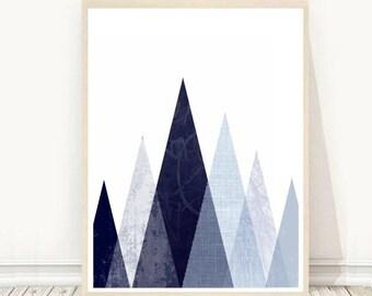 Printable Art, Geometric Art Print, Triangle Wall Print, Abstract Art Print, Modern Wall Art, Minimalist Wall Art, Digital download