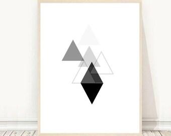 Geometric Print, Triangle Print, Geometric Wall Art,  Instant Download, Printable Art, Minimalist Print, Modern Minimalist , Wall Decor