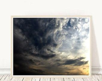Cloud Photo, Abstract Photo, Clouds Photography, Printable Art, Cloud Print,   Sky Photo, Digital Download, Home Decor, Wall Decor