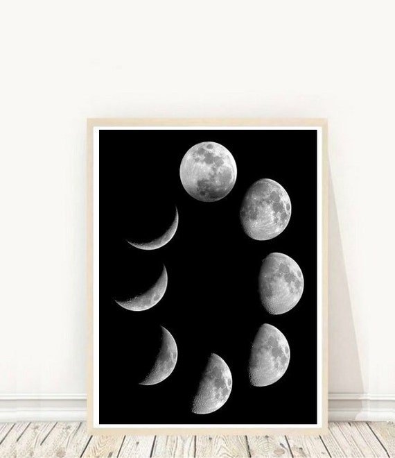 photograph relating to Moon Phase Printable titled Moon Step Print, Moon Artwork, Moon Stages, Printable Artwork, Property Decor, Wall Artwork, Fast down load, Wall decor, Wall Print