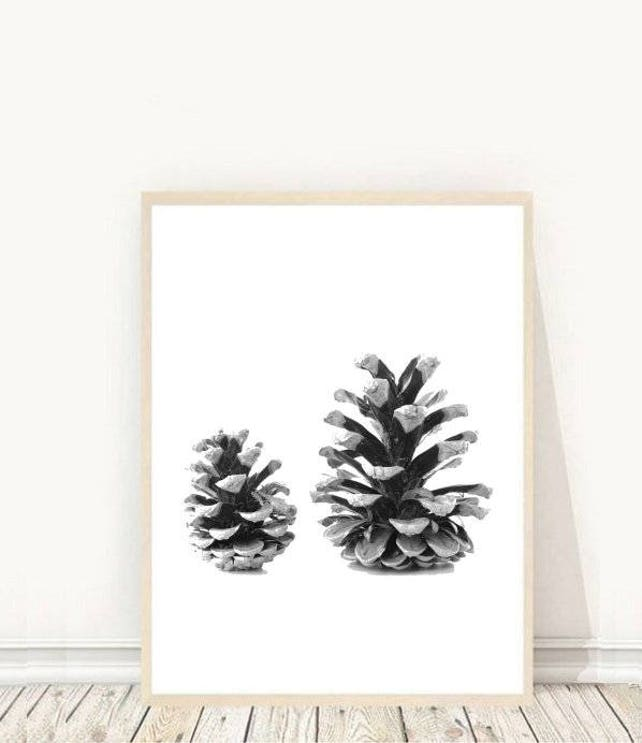 Pine Cone Printable Art Pine Cones print Nature Art Home | Etsy