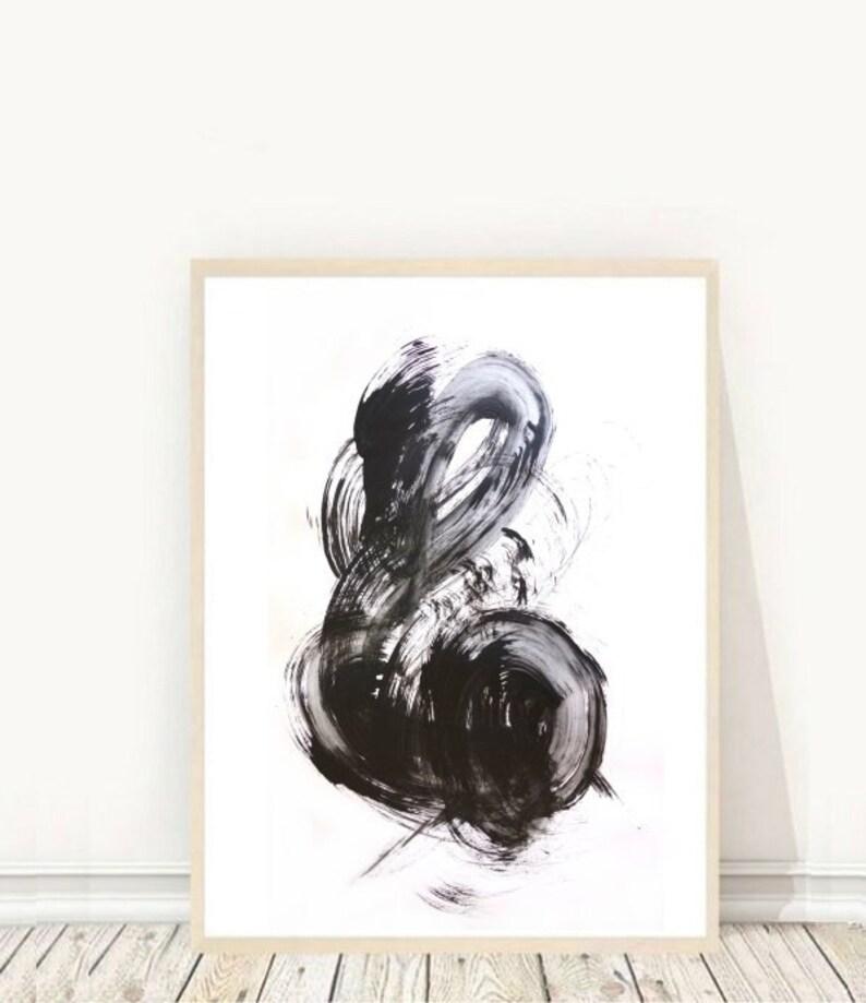 Abstract Art Print Black and White Art Printable art Modern image 0