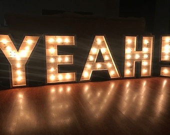 24 lighted marquee letters marquee lights industrial farmhouse letter decor lighted letters lighted letters light up letter
