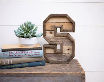 10 reclaimed wood letters marquee letter rustic wood letters woodland nursery rustic home decor farmhouse decor marquee letters