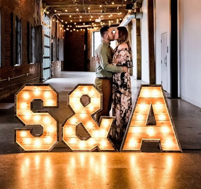 36 Lighted Marquee Letter Large Lighted Letters Rustic Light Up Letters Lighted Wooden Letters Rustic Wedding Marquee Letters