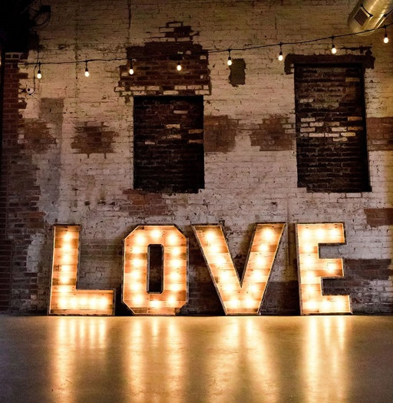 48 Lighted Marquee Letters Rustic Wood Marquees Light Up Letters Lighted Letters Marquee Lights Marquee Letters Event Decor