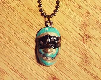 Blue Face Necklace