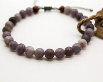 Lilac Stone Mala Bracelet