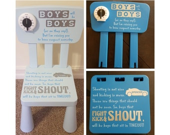 Time Out Chair with Timer - Boys - With Timer - Timeout Chair - Kid Chair