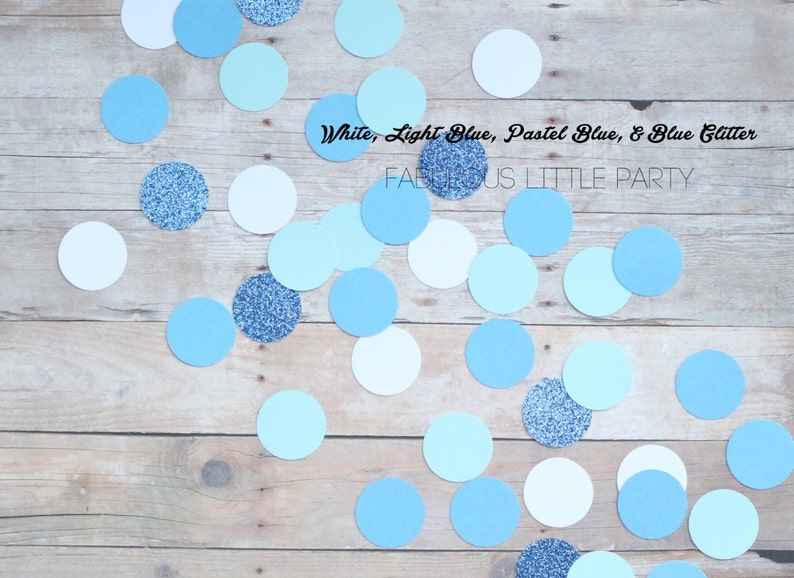 Blue Ombre Confetti Winter Table Decorations Baby Shower