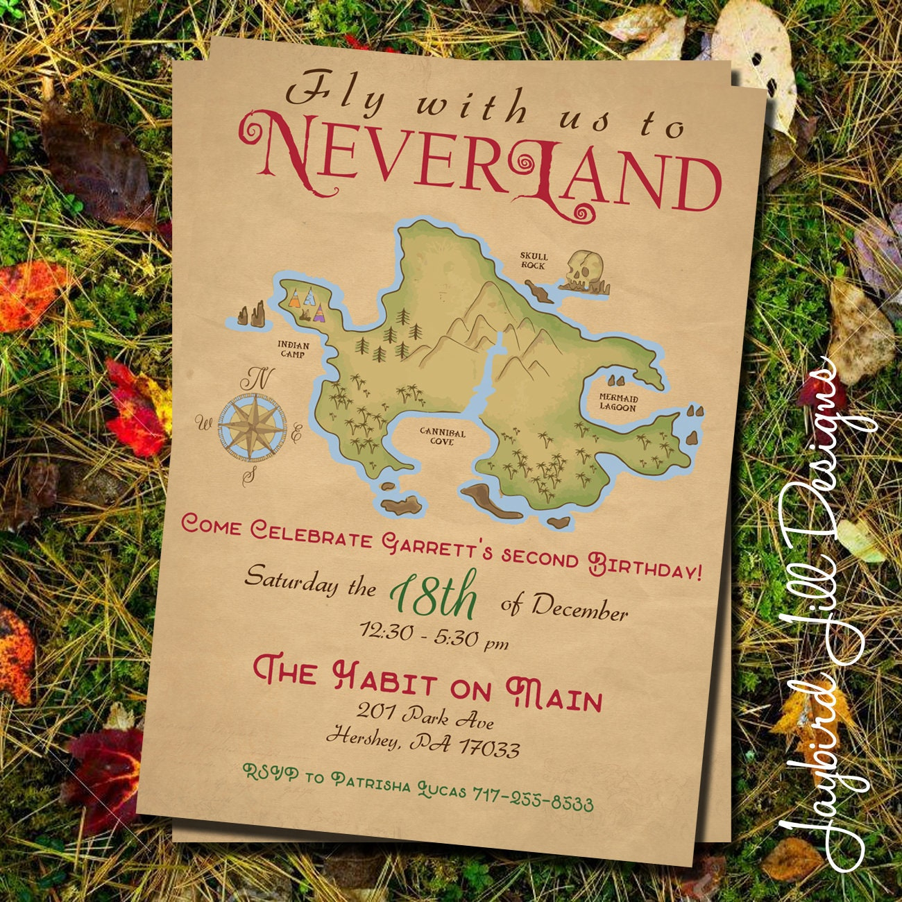 Neverland Birthday Party Invitation / Peter Pan Party /