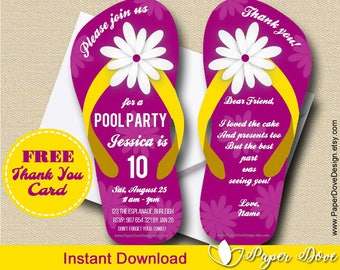 5e728a44d66f7b Pool Party Invitation 5x7