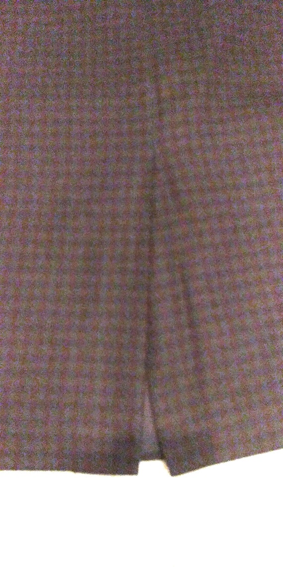Vintage Breeches Wool Plaid Maxi Skirt, Maxi Skir… - image 7
