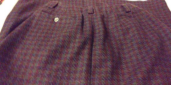 Vintage Breeches Wool Plaid Maxi Skirt, Maxi Skir… - image 3