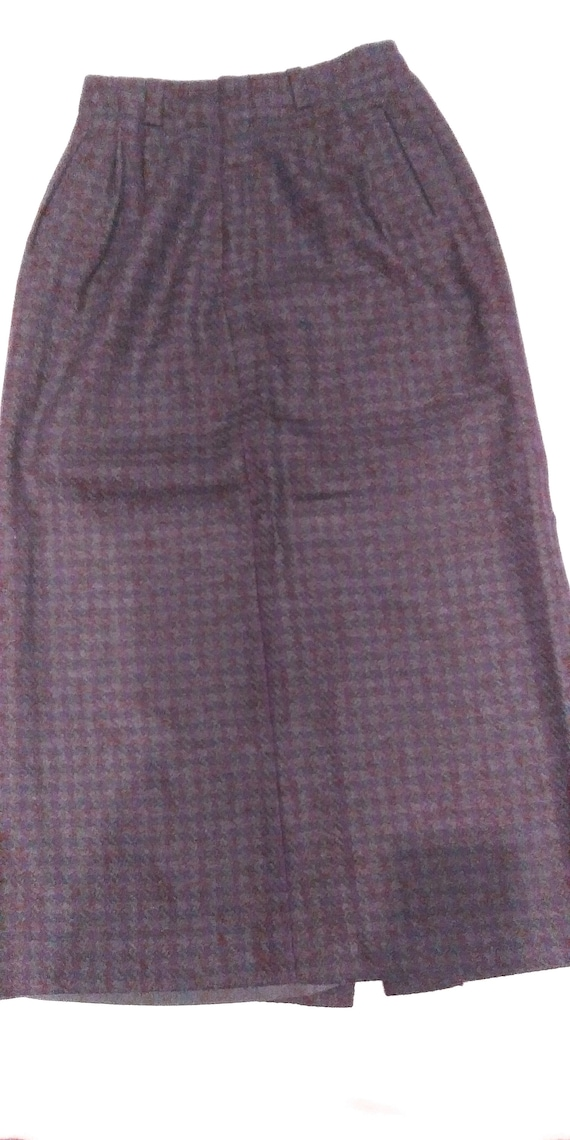 Vintage Breeches Wool Plaid Maxi Skirt, Maxi Skir… - image 1