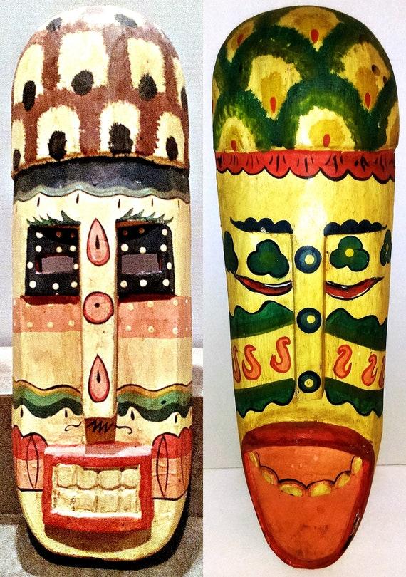 Indonesian Mask/Mask/Wood Mask/Mask Wall Decor/Vintage