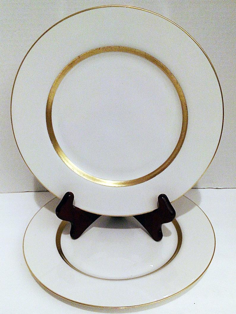 Theodore Haviland Set of 2 Plates Vintage Dinnerware 940\u2019s Dinner Plate Haviland New York China Plates Vintage Dinner Plates