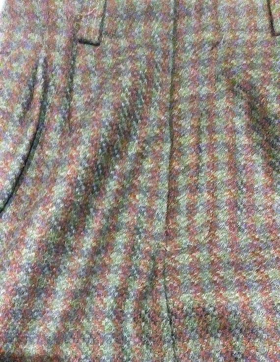 Vintage Breeches Wool Plaid Maxi Skirt, Maxi Skir… - image 8