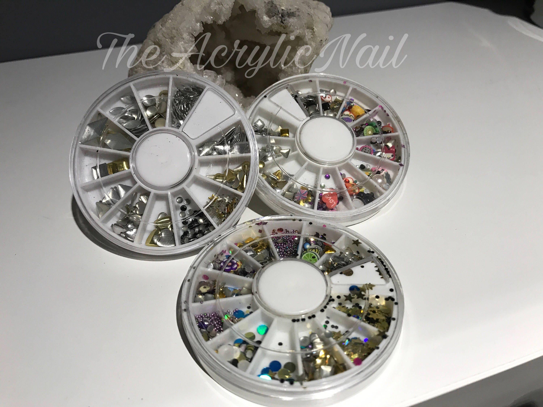Nail Art Wheels 3 styles various nail art accessories holographic ...