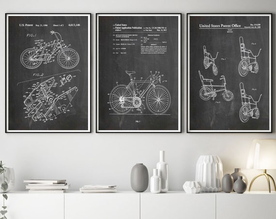 Bicycle Poster Bicycle Prints Raleigh Poster Raleigh Chopper Racing Bike Bicycle Wall Art Bicycle Art Cycling Art Cycling Poster WB377-WB379