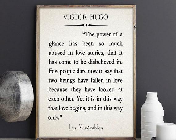 Victor Hugo Quote Les Misérables Quotes Les Misérables Poster Les Misérables Musical Victor Hugo Book Page Poster Book Posters Literature