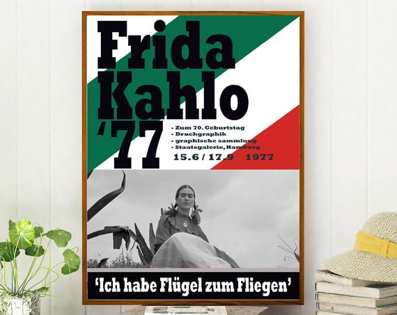 Frida Kahlo Exhibition Poster 1977 Kahlo Painting Frida Kahlo Print