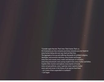 Carl Sagan Pale Blue Dot Poster Carl Sagan Print Astronomy Poster Science Poster Science Wall Art Space Poster Wall Art Space Art Space Deco
