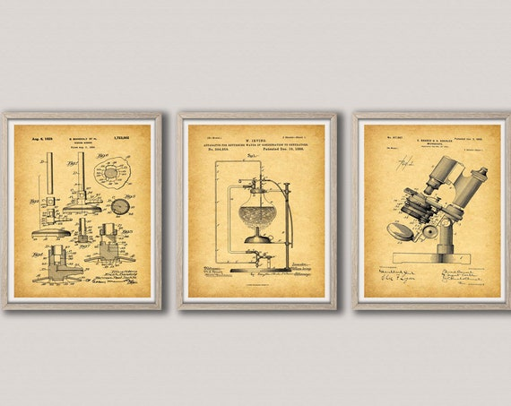 Science Apparatus Posters Science Inventions Wall Art Scientific Decor Science Lab Decor Science Room Prints Vintage Science Art WB380-WB382