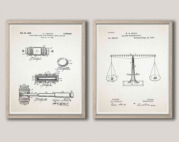 Law Office patent Prints Attorney Office Wall Art Legal Office Decor Legal Posters Law Posters Set of 2 Law Patent Prints Gavel WB388-WB389