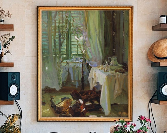 Relaxing Green Painting Hotel Room by John Singer Sargent