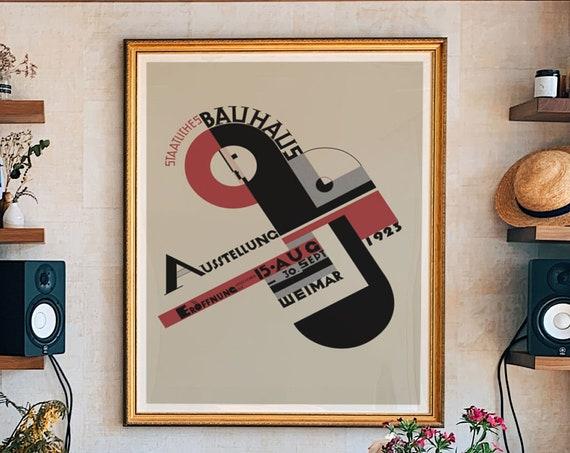 Bauhaus Exhibition Poster 1923 Bauhaus Poster Art Bauhaus Print