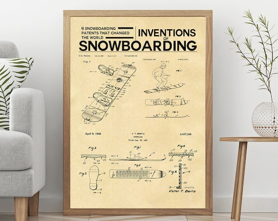 Snowboarding Poster Inventions of Snowboarding Print