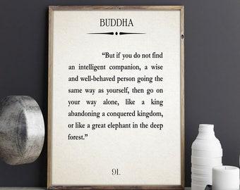 Buddha Quote Buddha Book Wall Art Buddhist Wall Art Buddhist Decor Buddhist Art Buddhist Quote Buddha Poster Book Page Wall Art Book Quote