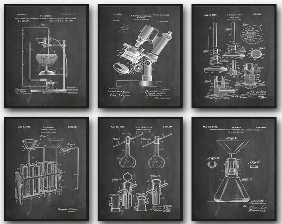 Science Posters Science Decor Laboratory Inventions Scientist Posters Scientist Prints Science Prints Scientific Inventions WB380-WB385