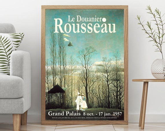 Henri Rousseau Exhibition Poster French Museum Exhibition Print 1957