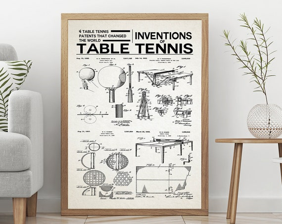 Table Tennis Inventions of Table Tennis Print