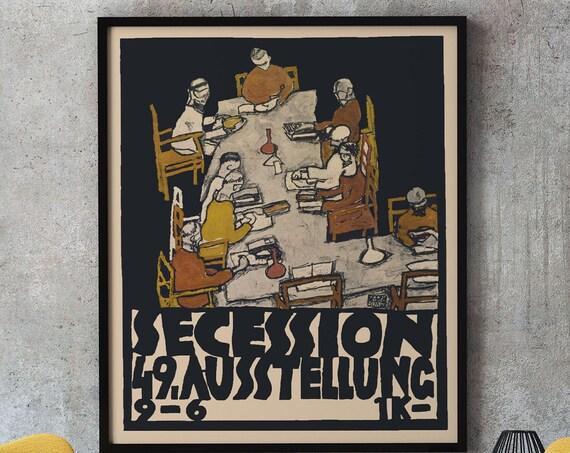 Vienna Secession Poster by Egon Schiele - Secession 49 1918