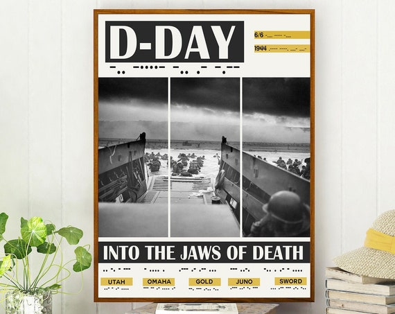 D-Day Poster WWII Exhibition Poster of D Day Landings