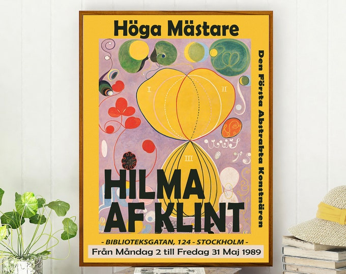 Modern Abstract Museum Poster Hilma Af Klint Exhibition Print