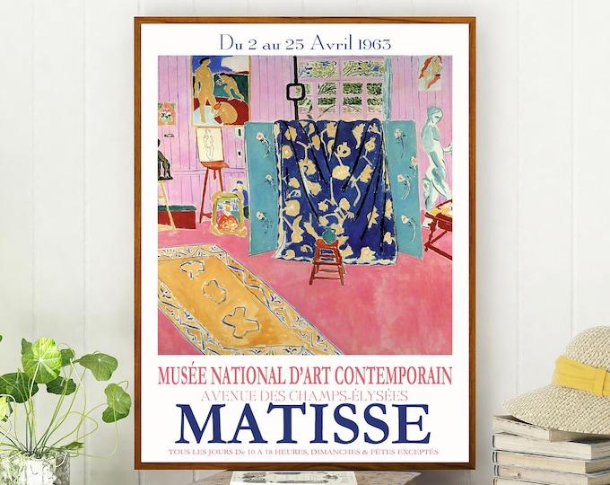 Matisse Exhibition Poster 1963 Museum Poster Matisse Poster Matisse Print