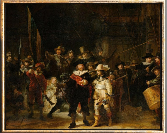 Rembrandt The Night Watch Painting Large Rembrandt Painting