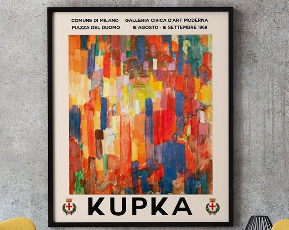 Kupka Exhibition Poster Frank Kupka Art Abstract Exhibition Art