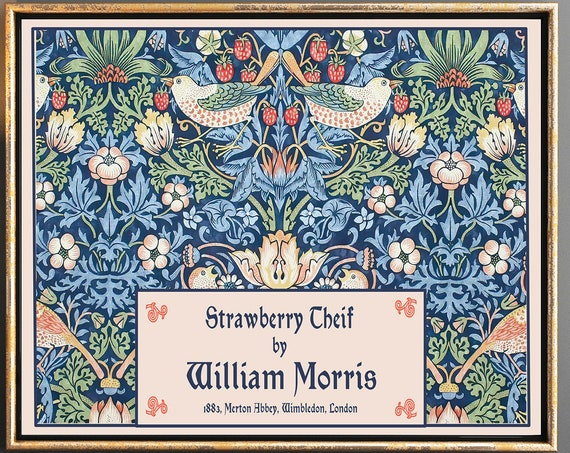 William Morris Poster Strawberry Thief by William Morris Print