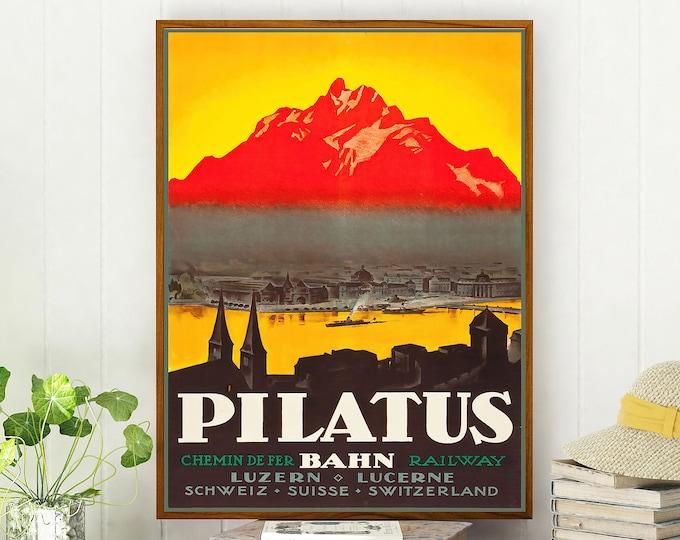 Switzerland Travel Poster Travel Wall Art Print