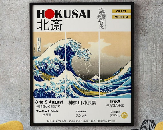The Great Wave Exhibition Poster Hokusai Japanese Museum Art